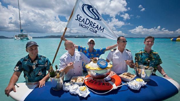 SeaDream Yacht Club's beach party