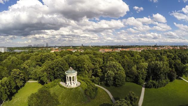 Monopteros Monument in Munich's English Garden