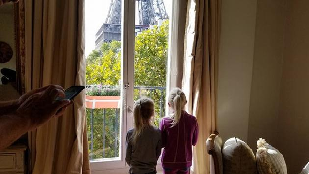 View from a Parisian accommodation of the Eiffel Tower