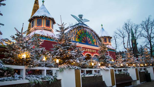 Trainsbury is perhaps the most festive train station you'll ever visit
