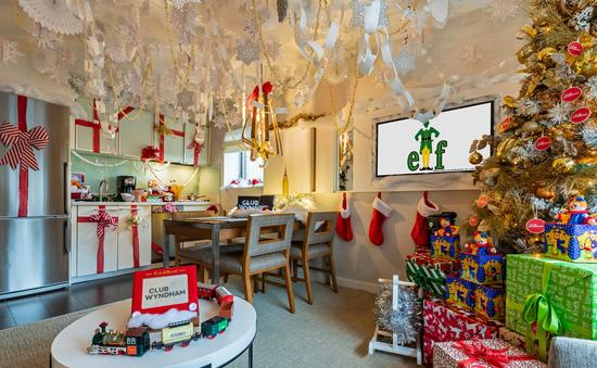 Club Wyndham Midtown 45 Holiday Suite inspired by Elf