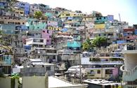 Housing stacked in Port-Au-Prince, Haiti