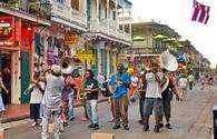 Jazz band performing in New Orleans