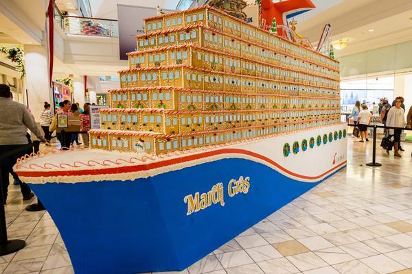 Carnival Cruise Line Builds Massive Gingerbread Mardi Gras Ship Travelpulse