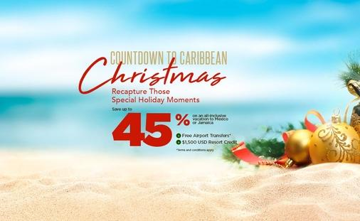 Countdown to a Caribbean Christmas! Save up to 45%