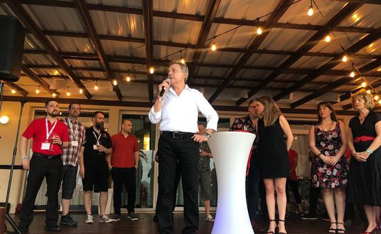 Richard Villeneuve, président de VED lors de sa conférence d'introduction