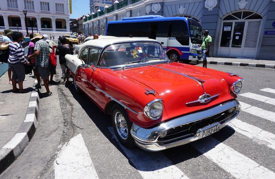 Classic car in Santiago de Cuba, Cuba
