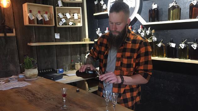 tasting artisanal liqueurs in Poland