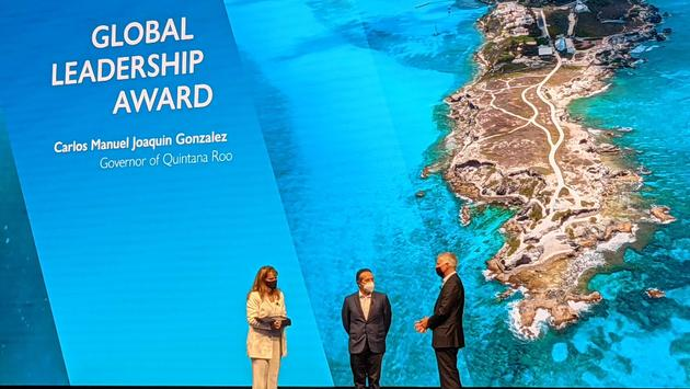 WTTC CEO, governor of Quintana Roo and Hilton CEO at WTTC's Global Summit