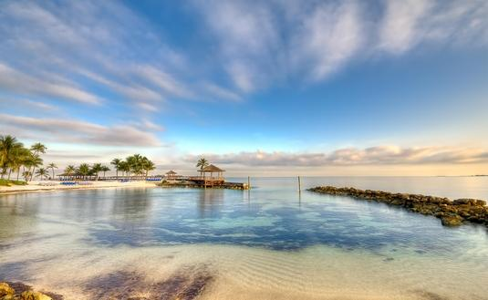 Morning in a Bahamas Beach