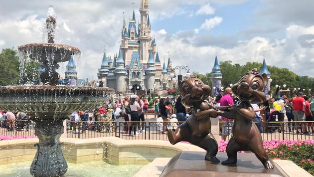 View of Cinderella Castle at Walt Disney World
