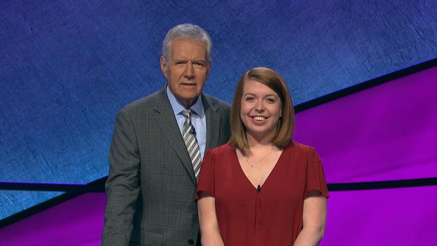 Alex Trebek and Nicole Cocklin