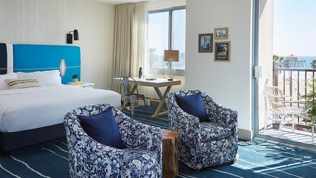 Kimpton Shorebreak Resort guest room.