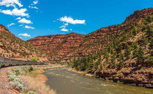California Zephyr train ride along the Colorado River