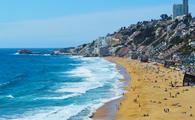 Renaca Beach in Vina del Mar, Chile