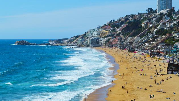 Renaca Beach in Vina del Mar, Chile