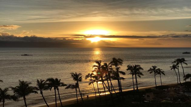 View from a guest room at Hyatt Regency Maui