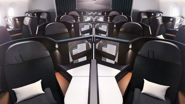 WestJet's new business class seating