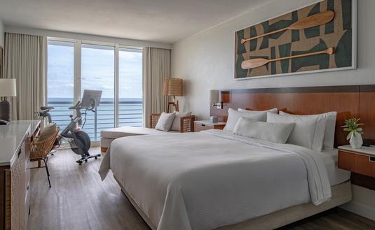 Pelaton room at the Westin Fort Lauderdale Beach Resort