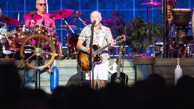 Jimmy Buffett performing at MGM Grand Garden Arena