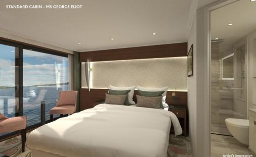 Rendering for MS George Eliot Room on Riviera River Cruises