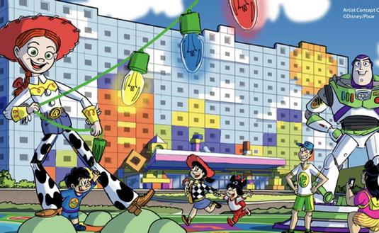 Tokyo Disney Resort Toy Story Hotel Drawing