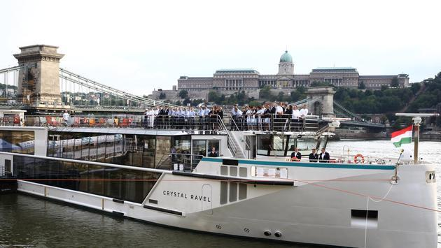 The Crystal Ravel was christened July 11, 2018 in Budapest. (Photo Courtesy of Crystal Cruises)