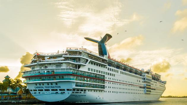 Carnival Fascination docked in the Bahamas