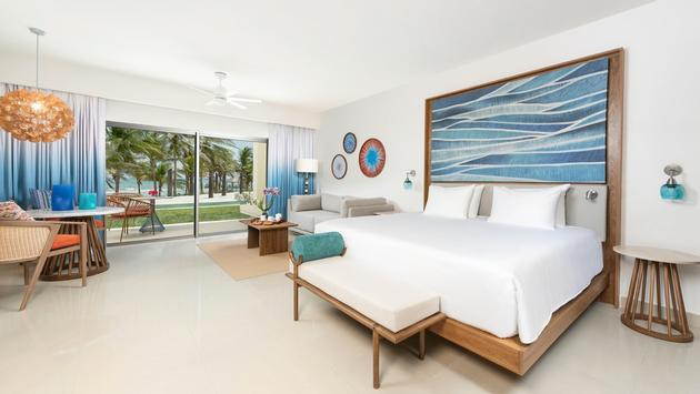 A suite at Hyatt Ziva Riviera Cancun