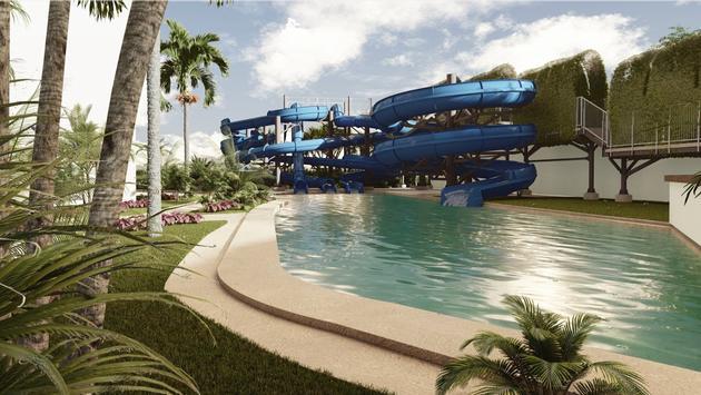 Water park at Hyatt Ziva Riviera Cancun
