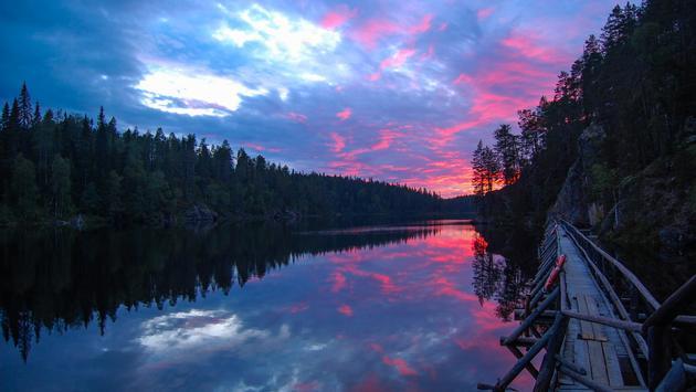 Sunset in Hossa, Finland