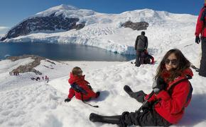 Young explorers in Antarctica