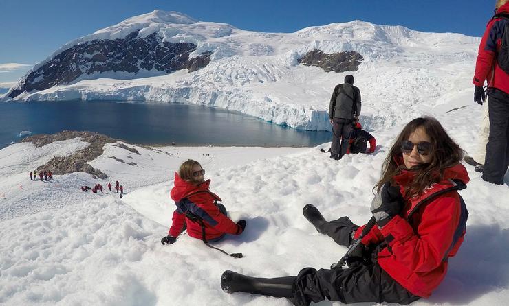 Young explorers in Antarctica