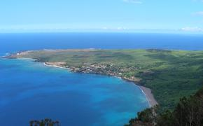 Kalaupapa Peninsula on Molokai Hawaii