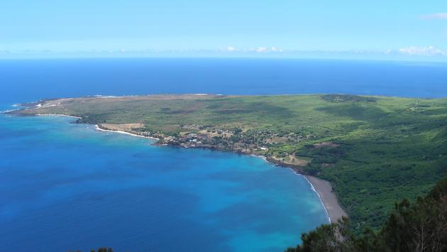 Kalaupapa Peninsula on Molokai Hawaii