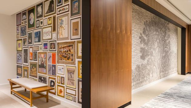 Art inside C. Baldwin Hotel in Houston, Texas