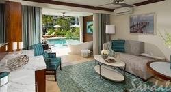 Get $1,000 Instant Credit: Crystal Lagoon Swim-Up One Bedroom Butler Suite with Patio Tranquility Soaking Tub