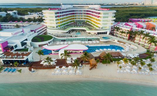 FOTO: Una foto aérea de Temptation Cancún Resort. (Foto de Temptation Cancún Resort)