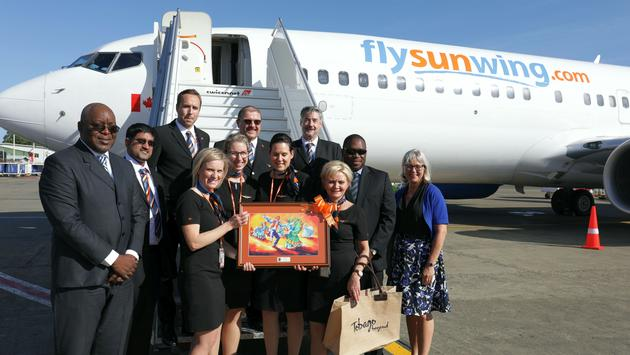 Sunwing Inaugural Flight to Tobago