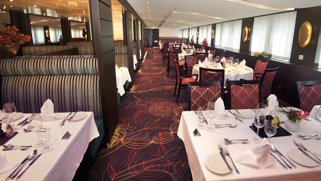 Main restaurant onboard the AmaMora