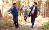 gay couple with young child