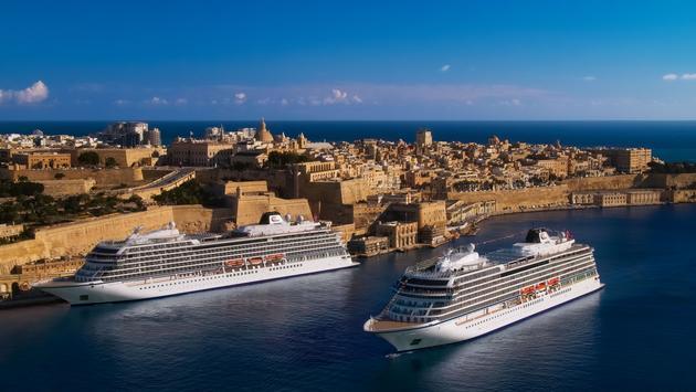 The Viking Venus and Viking Sea in Malta.