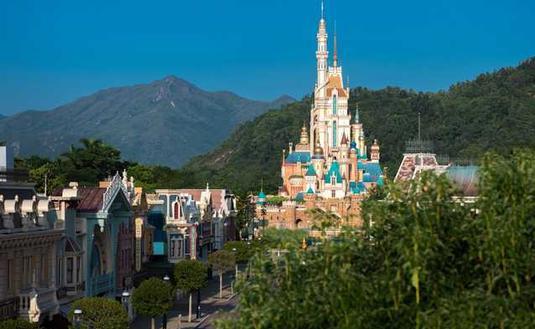 Hong Kong Disneyland's Castle of Magical Dreams.