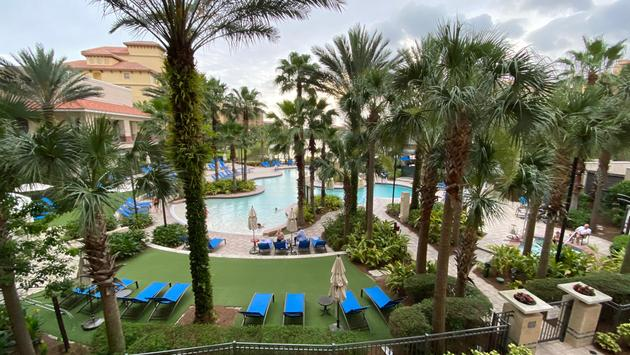 Pool view at the Wyndham Grand Orlando Resort Bonnet Creek