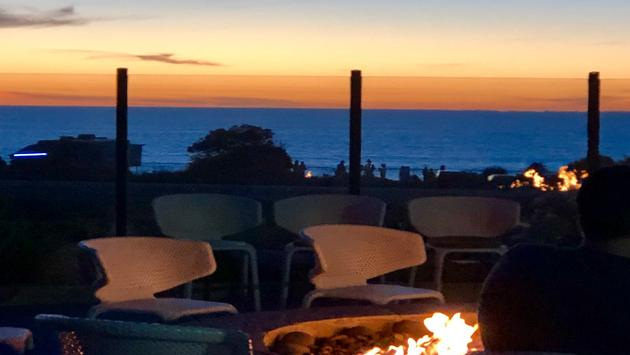 Fire pit at Cape Rey in Carlsbad