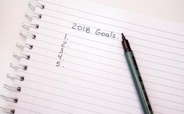 2018 goals pen notebook