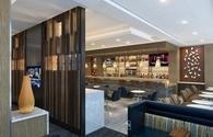 A rendering of the new Delta Sky Club at Phoenix Sky Harbor International Airport (PHX).