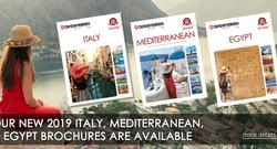 See what's new!  Our 2019 Italy, Mediterranean & Egypt brochures are here
