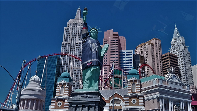 Statue of Liberty with Knights Jersey Las Vegas