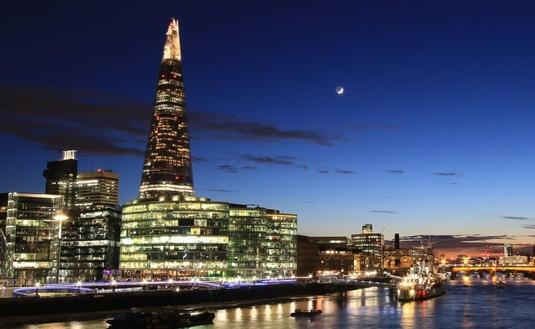 The Shard towers over London